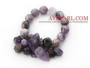Assorted Round and Irregular Amethyst Bracelet