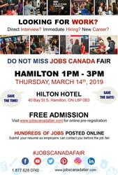 Hamilton Job Fair - March 14th,  2019