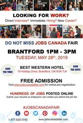 BRANTFORD JOB FAIR - MAY 28TH,  2019